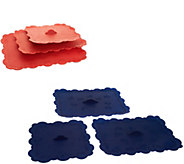Temp-tations Old World or Floral Lace Set of 3 Silicone Lids - K43705
