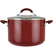 CooksEssentials 7qt Aluminum Stockpot with Spouts&Locking Drain Lid - K44805