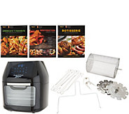 Power Air Fryer 6-qt Oven w/ 8 Presets, Books, & Accessories - K47105