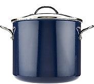 CooksEssentials 12 qt. Porcelain Enamel Stock Pot w/Handles - K43106