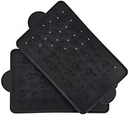 Temp-tations Floral Lace Set of 2 Silicone Baking Boards - K43206