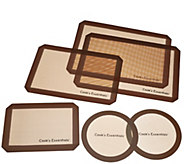 Cooks Essentials 6-piece Silicone Baking Mat Set - K43406