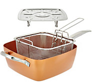 Ships 6/14 Copper Chef 9.5 Square Pan with Lid & Accessories - K45006