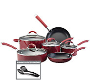 Farberware Millennium Aluminum 12-Piece Cookware Set - Red - K131007