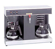 BUNN VLPF 12-Cup Automatic Commercial Coffee Brewer, 2 Warmer - K299707