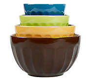 Tabletops Gallery 4-Piece Mixing Bowl Set - Cafe Multi - K299807