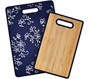 Temp-tations Set of 2 OW or FL Bamboo Cutting Boards - K43607
