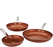 CooksEssentials Ceramic Nonstick 8, 10 & 12 Skillet Set - K45907