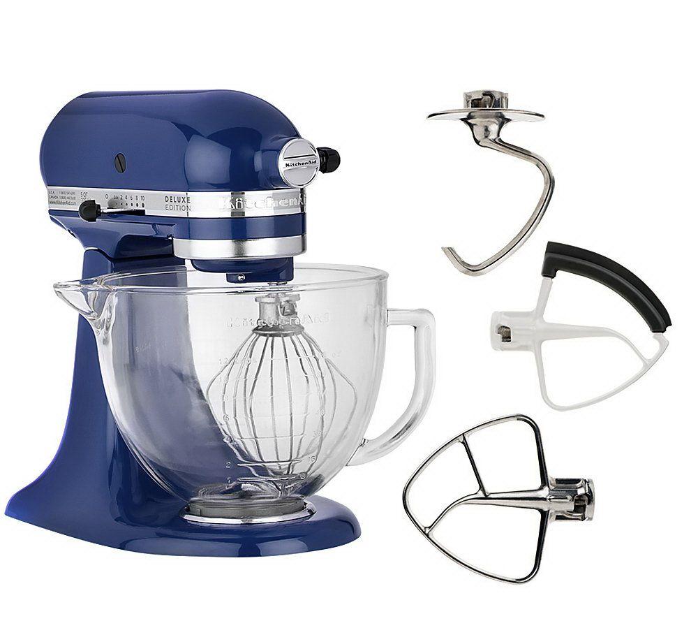 kitchenaid deluxe edition 5qt 325 watt 10speedtilthead stand mixer