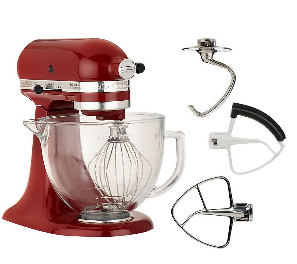 kitchenaid deluxe edition 5qt 325 watt stand mixer page 1 u2014 qvccom - Artisan Kitchenaid Mixer