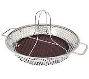 CooksEssentials 12 Round Stainless Steel BBQ Skillet w/ Insert - K42308
