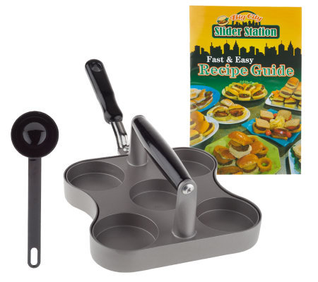 Big City Slider Station Mini Burger Pan w/Recipes and Measuring Spoon