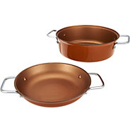 As Is Cooks Essentials 3.5qt  2-in-1 Nonstick Light Cast Iron Pan - K307709