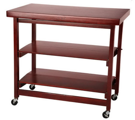 Extra Large Collapsible Kitchen Island With Shelves