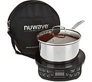 NuWave Induction Cooktop Flex w/3qt. Saucepan Lid, & Case - K45909