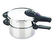 Fagor Splendid 2x1 8 & 4 qt Multipressure Cooker Set - K133410