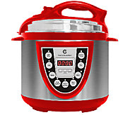 CooksEssentials 4 qt. Round Digital S/S Pressure Cooker - K42010