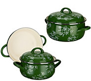 Temp-tations Floral Lace 5-piece Enamel Cookware - K42810