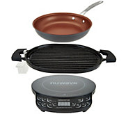 NuWave Induction Cooktop Flex w/ Cast Iron Grill & 9 Fry Pan - K45910