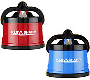 As Is Kleva Set/2 Counter Top Knife Sharpeners w/Suction Base - K294511
