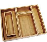 Lipper Bamboo Organizer Boxes, 5-pc. Set - K306611