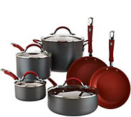 As Is Cooks Essentials Hard Anodized 10 piece Cookware Set - K307511