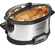 Hamilton Beach Programmable Stay or Go 6-Qt Slow Cooker - K375611