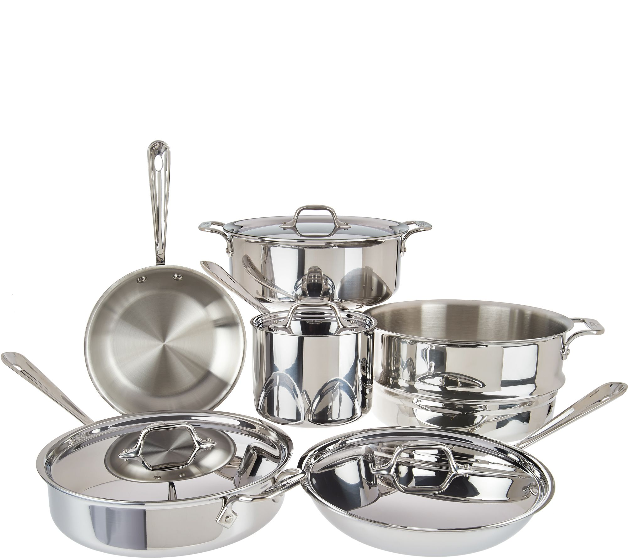 All-Clad Tri-Ply Stainless Steel 10-piece Cookware Set - Page 1 ...