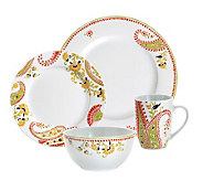 Rachael Ray 16-Piece Paisley Porcelain Dinnerware Set - K297312