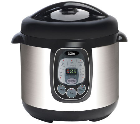 Elite Platinum 8-qt Electric Stainless Steel Pressure Cooker