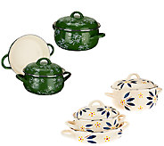 Temp-tations Old World or Floral Lace 5-piece Enamel Cookware Set - K42812