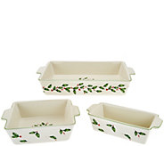 Lenox 3-pc Porcelain Holiday Bake Set - K44512