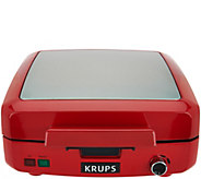 Krups 4 Slice Belgian Waffle Maker w/ Removable Nonstick Plates - K44912