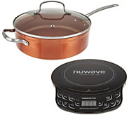 Nuwave Induction Cooktop Flex w/ 4-qt Everyday Pan and Lid - K46712