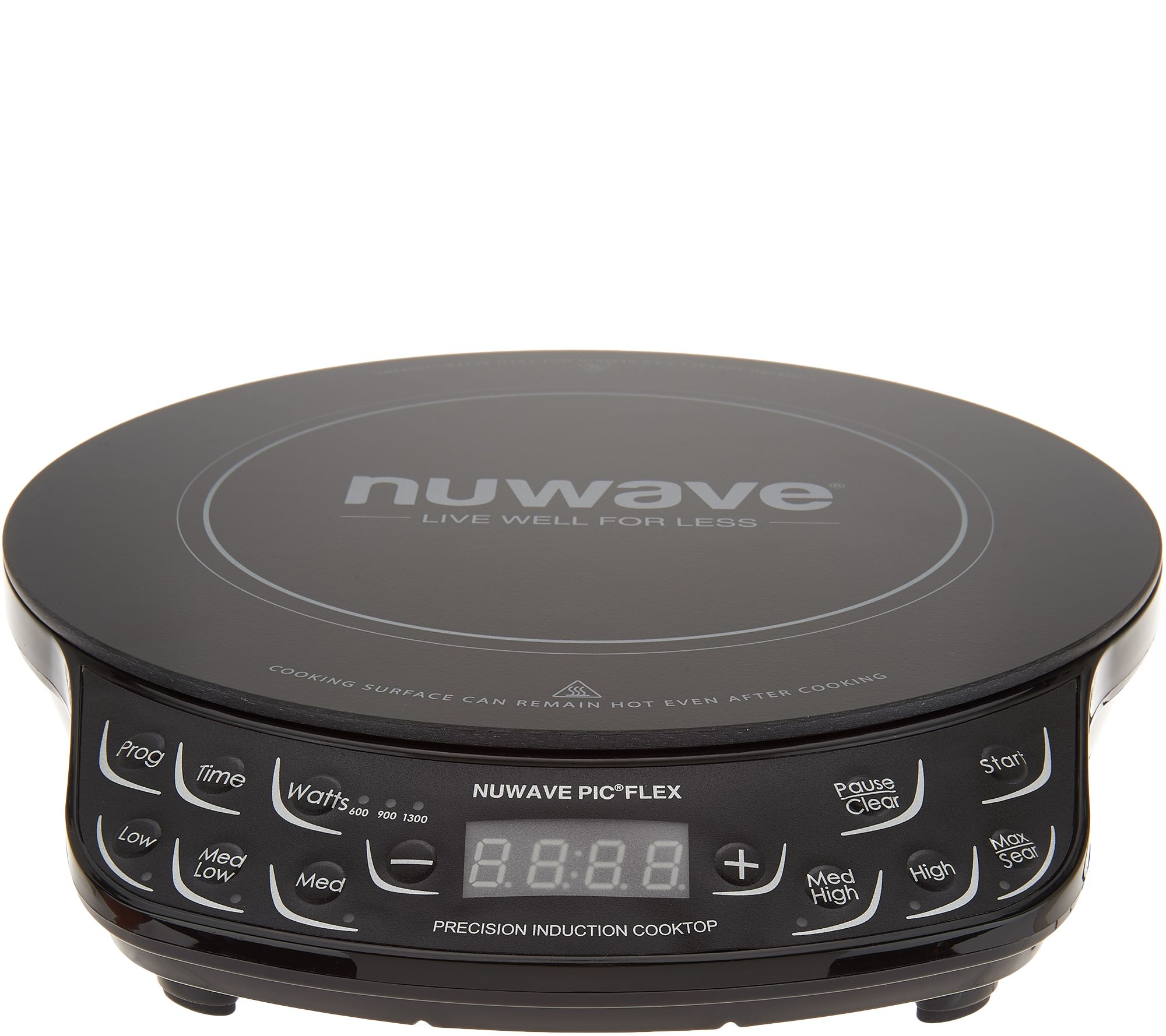 Nuwave Induction Cooktop Flex w 4 qt Everyday Pan and Lid QVC