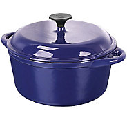 Range Kleen 5-Qt Covered Cast Iron Dutch Oven -Blue Enamel - K300013