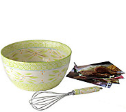 Temp-tations Old World 4-qt Bowl with Whisk andRecipe Cards - K304113