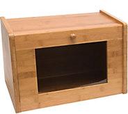Lipper Bamboo Bread Box with Window - K306613