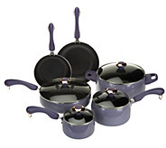 As Is CooksEssentials 10pc. Porcelain Enamel Cookware Set - K307613