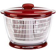 KitchenAid Classic Red Plastic Salad Spinner - K374913