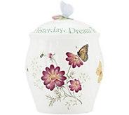 Lenox Butterfly Meadow Sentiment Cookie Jar - K375113
