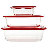 Decor Thermoglass S/3 Microwave Bakers with RealSeal Lid - K43413