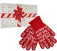 Temp-tations Set of 2 Holiday Oven Mitts w/ Gift Box - K44513