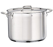 Tramontina 16-qt Pro. Covered Stock Pot with Stainless Lid - K121314