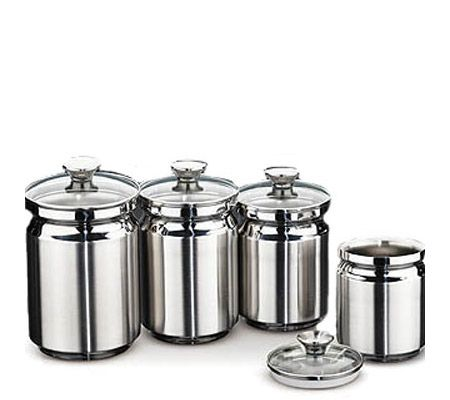 Tramontina 4 Piece Stainless Steel Canister Set Page 1