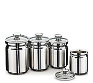 Tramontina 4-Piece Stainless Steel Canister Set - K180814