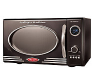 Nostalgia Electrics Retro Series 0.9 CuFt BlackMicrowave Oven - K299514