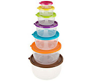 Classic Cuisine 14-Piece Colored Food Storage Set - Round - K306314