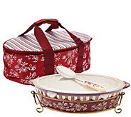 Temp-tations Floral Lace 3qt Pack nGo Baker with Accessories - K42714