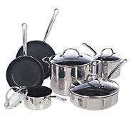Farberware Millennium Stainless 10-Piece Nonstick Cookware Set - K131015